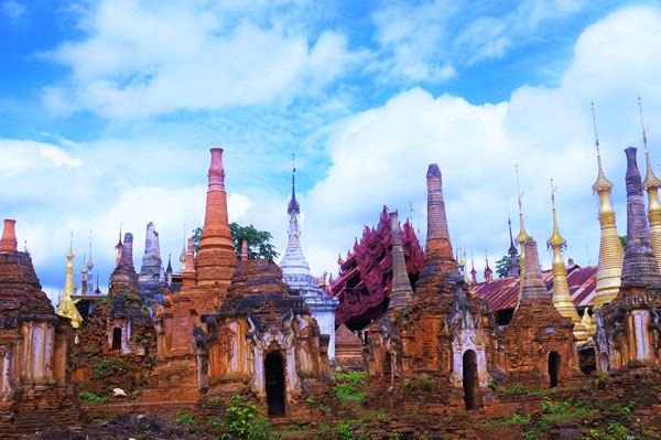 Indein Pagoda Inle in Shan State