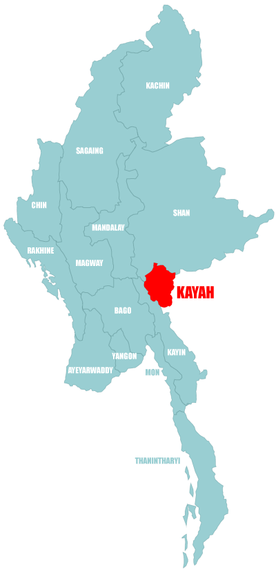 Map Kayah State (Myanmar)