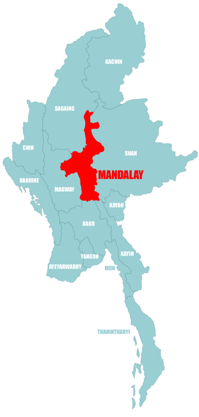 Map Mandalay Division Myanmar