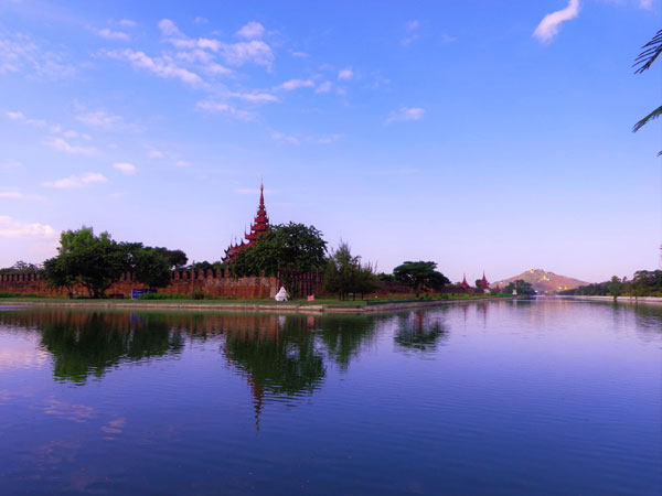 Mandalay Hill in Mandalay Division