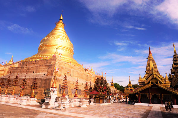 Shwezigon Pagoda Bagan in Mandalay Division