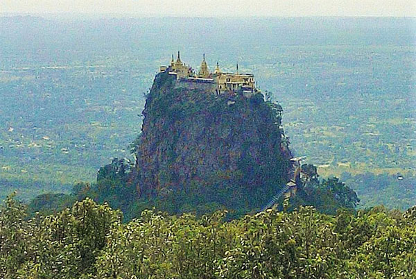 Mt Popa in Mandalay Division